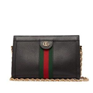 GUCCI 'Ophidia' GG Web Logo Shoulder Bag (Black)